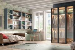 NIKHO-COLLECTION-KAZZANO-dormitorio-juvenil-moderno-armarios-que-muestran-colorido-interior